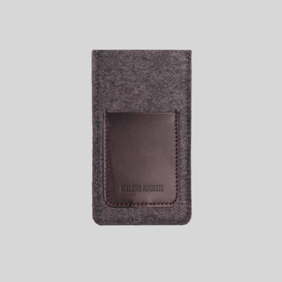 iphone sleeve wool felt leather
