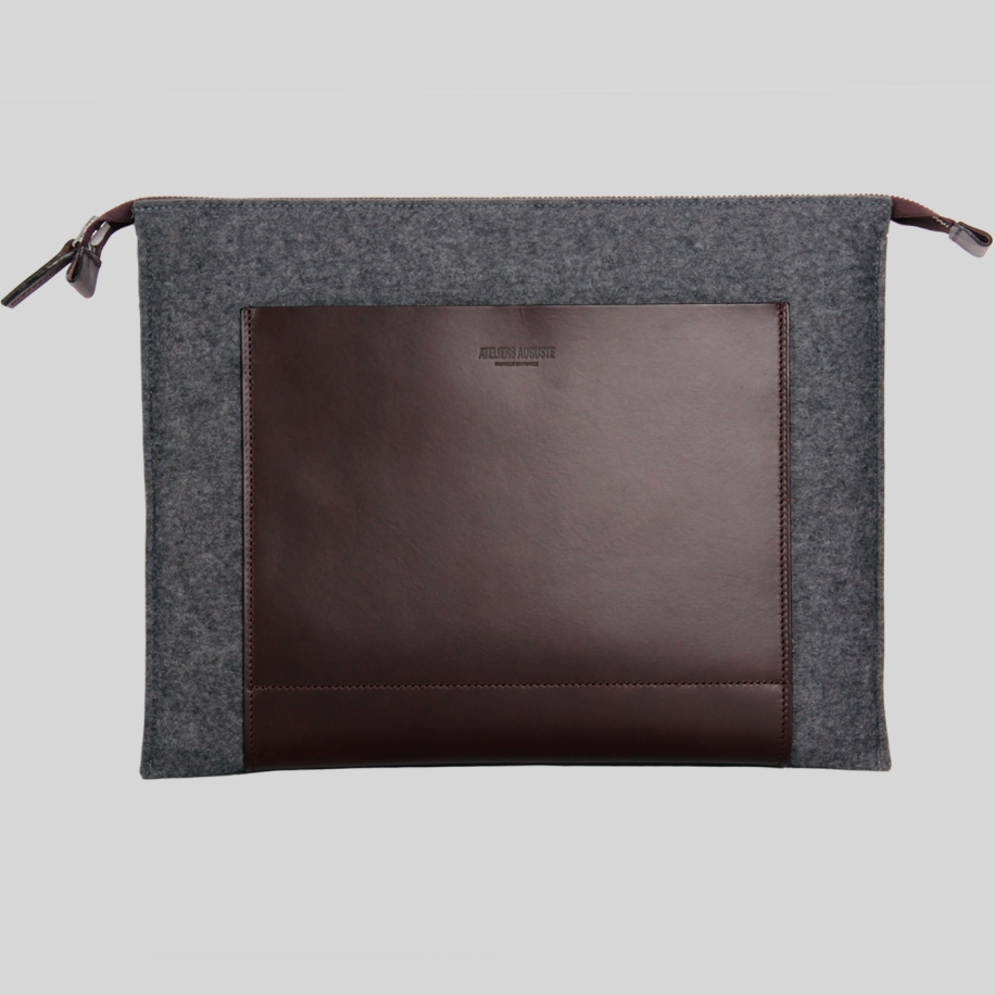 laptop sleeve wool felt leather