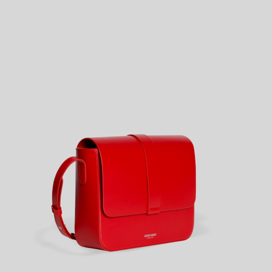 red leather women bag