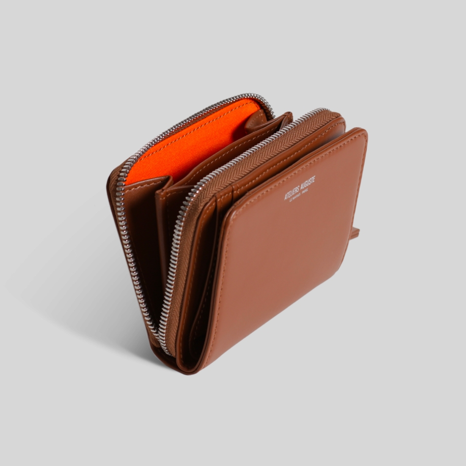 compact wallet with zip