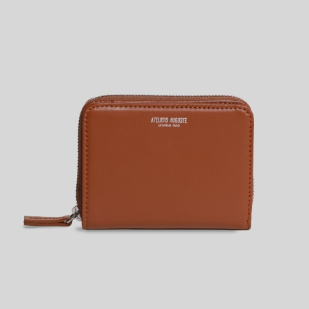 Portefeuille compact cuir
