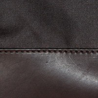 Chocolate Waxed Cotton / Brown Leather
